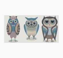 THREE FANCY OWLS One Piece - Short Sleeve