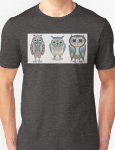 THREE FANCY OWLS Unisex T-Shirt