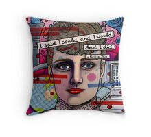 Nellie Bly Throw Pillow
