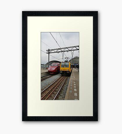 Dutch international trains Framed Print