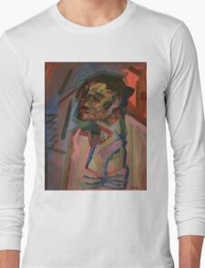 Old Lady Seated V Long Sleeve T-Shirt