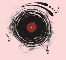 Vinyl Records Retro Grunge Kids Tee