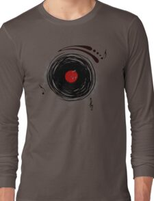 Vinyl Records Retro Grunge Long Sleeve T-Shirt
