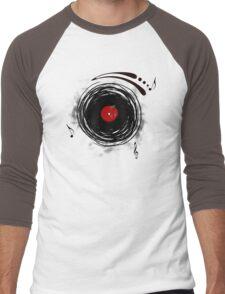 Vinyl Records Retro Grunge Men's Baseball ¾ T-Shirt