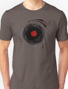 Vinyl Records Retro Grunge T-Shirt
