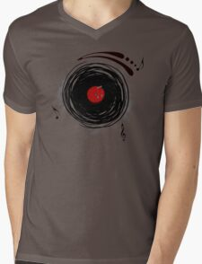 Vinyl Records Retro Grunge Mens V-Neck T-Shirt