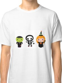 Happy Kids in Halloween Costumes Classic T-Shirt