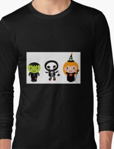 Happy Kids in Halloween Costumes Long Sleeve T-Shirt
