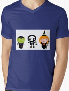 Happy Kids in Halloween Costumes Mens V-Neck T-Shirt