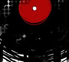 Melting Vinyl Records Vintage Sticker