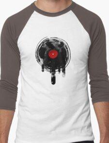 Melting Vinyl Records Vintage Men's Baseball ¾ T-Shirt