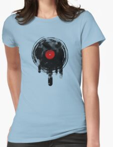 Melting Vinyl Records Vintage Womens Fitted T-Shirt