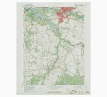 USGS TOPO Map New Jersey NJ Mount Holly 254608 1967 24000 Baby Tee