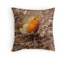 Robin Erithacus rubecula Throw Pillow