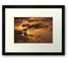 Ancient Dragon in the Sky ~ Clouds Framed Print
