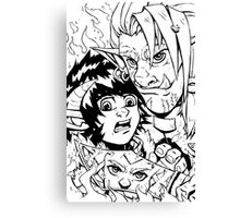 Zaidura Chronicles Issue 2 Cover (linework) Canvas Print