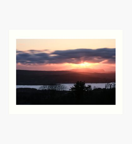 Sunset over North Donegal Art Print