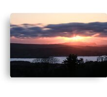 Sunset over North Donegal Canvas Print
