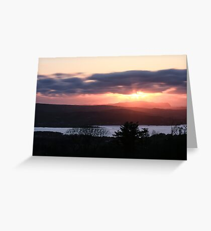 Sunset over North Donegal Greeting Card