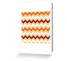 Colorful Chevron pattern for Thanksgiving day Greeting Card