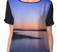Peaceful and Calm Over Belfast Chiffon Top