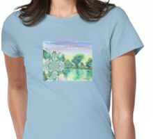 By the riverside Womens Fitted T-Shirt