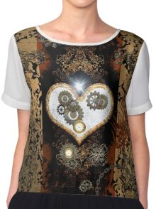 Steampunk,  with awesome heart Chiffon Top