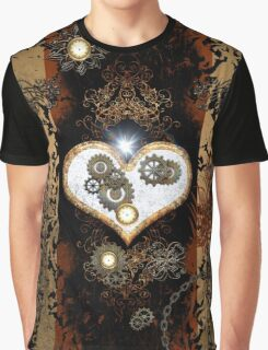 Steampunk,  with awesome heart Graphic T-Shirt