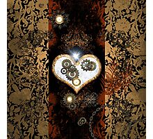 Steampunk,  with awesome heart Photographic Print