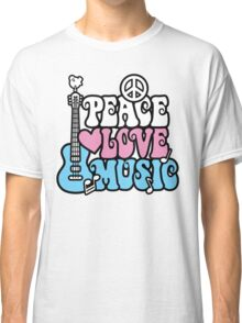 Peace, Love, Music Classic T-Shirt