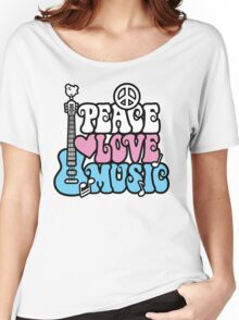 Peace, Love, Music Women's Relaxed Fit T-Shirt
