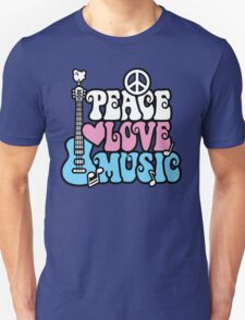 Peace, Love, Music Unisex T-Shirt