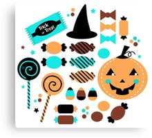 Halloween Trick or Treat Candies Canvas Print