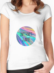 internet junkie Women's Fitted Scoop T-Shirt