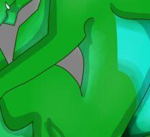 Sleeping Dragon (Green) Sticker