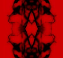 Mirrored Water Black and Red Sticker