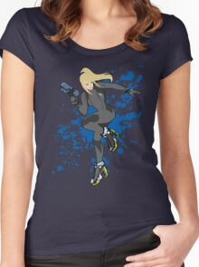 Zero Suit Samus (Black Alt.) - Super Smash Bros Women's Fitted Scoop T-Shirt