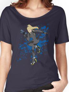 Zero Suit Samus (Black Alt.) - Super Smash Bros Women's Relaxed Fit T-Shirt