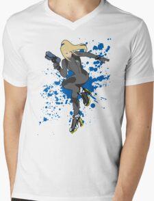 Zero Suit Samus (Black Alt.) - Super Smash Bros Mens V-Neck T-Shirt