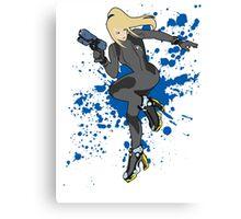 Zero Suit Samus (Black Alt.) - Super Smash Bros Canvas Print