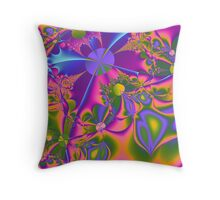 Psychedelic Gardening Throw Pillow