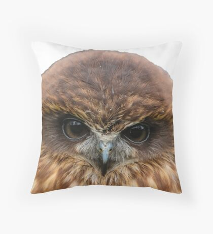 Billy the Boobook Owl Throw Pillow