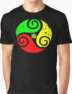 Reggae Love Vibes - Cool Weed Pot Reggae Rasta - Pouch T-Shirts and more Graphic T-Shirt