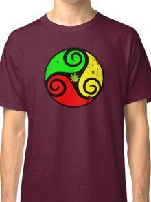 Reggae Love Vibes - Cannabis Reggae Flag Classic T-Shirt