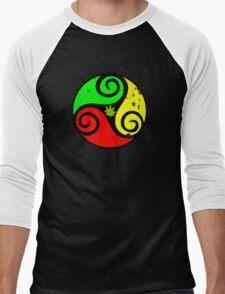Reggae Love Vibes - Cool Weed Pot Reggae Rasta - Pouch T-Shirts and more Men's Baseball ¾ T-Shirt