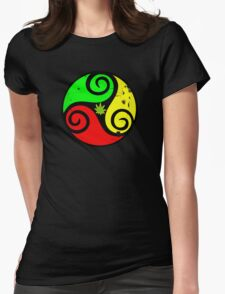 Reggae Love Vibes - Cool Weed Pot Reggae Rasta - Pouch T-Shirts and more Womens Fitted T-Shirt