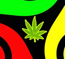 Reggae Love Vibes - Cool Weed Pot Reggae Rasta - Pouch T-Shirts and more Sticker