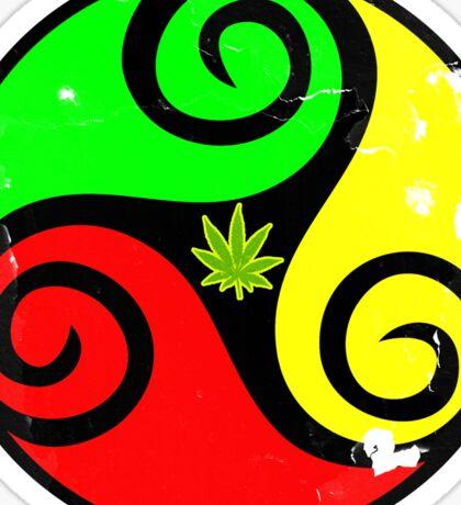 Reggae Love Vibes - Cannabis Reggae Flag Sticker