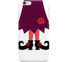 Cartoon Witch legs Vector Illustration iPhone Case/Skin