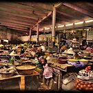 The Indoor Market at Guinea Conakry by Wayne King